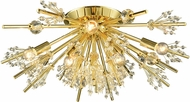 ELK 11758-8 Starburst Polished Gold Ceiling Lighting Fixture