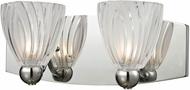 ELK 11791-2 Lindale Modern Polished Chrome Halogen 2-Light Vanity Light