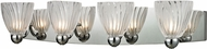 ELK 11793-4 Lindale Modern Polished Chrome Halogen 4-Light Bath Lighting Fixture