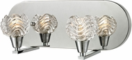 ELK 11801-2 Crystal Wave Modern Polished Chrome Halogen 2-Light Bathroom Light Fixture