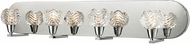 ELK 11803-4 Crystal Wave Modern Polished Chrome Halogen 4-Light Bathroom Vanity Light