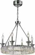 ELK 11805-12-6 Manning Polished Chrome Mini Ceiling Chandelier