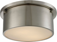 ELK 11820-2 Simpson Contemporary Brushed Nickel Flush Mount Ceiling Light Fixture