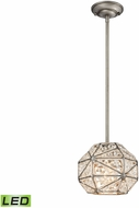 ELK 11835-1-LED Constructs Weathered Zinc LED Mini Drop Ceiling Lighting