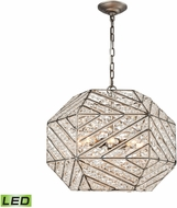 ELK 11837-8-LED Constructs Weathered Zinc LED Drop Lighting Fixture