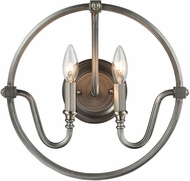 ELK 11840-2 Stanton Modern Weathered Zinc Brushed Nickel Wall Light Sconce