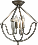 ELK 11841-4 Stanton Contemporary Weathered Zinc Brushed Nickel Flush Lighting