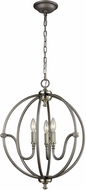 ELK 11846-3 Stanton Modern Weathered Zinc,Brushed Nickel Mini Chandelier Light