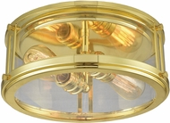 ELK 11870-2 Coby Contemporary Polished Gold Flush Mount Light Fixture