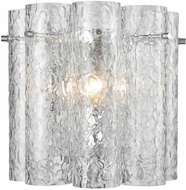 ELK 11910-1 Glass Symphony Contemporary Polished Chrome Sconce Lighting