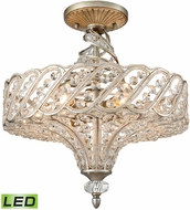 ELK 11923-6-LED Cumbria Aged Silver LED Flush Mount Lighting