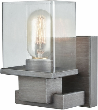bathroom wall fixtures elk 11940 1 hotelier modern weathered zinc wall lighting 11940