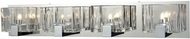ELK 11963-4 Ridgecrest Contemporary Polished Chrome Halogen 4-Light Bath Wall Sconce