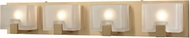 ELK 11973-4 Ridgecrest Contemporary Satin Brass Halogen 4-Light Bathroom Sconce Lighting