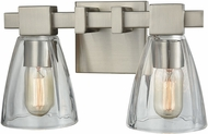 ELK 11981-2 Ensley Contemporary Satin Nickel 2-Light Bath Lighting Sconce