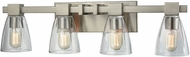 ELK 11983-4 Ensley Contemporary Satin Nickel 4-Light Bathroom Lighting