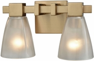 ELK 11991-2 Ensley Contemporary Satin Brass 2-Light Lighting For Bathroom