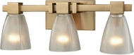 ELK 11992-3 Ensley Modern Satin Brass 3-Light Bath Lighting