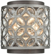 ELK 12160-2 Rosslyn Weathered Zinc / Matte Silver Lighting Sconce