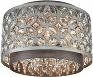 ELK 12161-4 Rosslyn Weathered Zinc / Matte Silver Ceiling Light Fixture