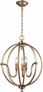ELK 12846-3 Stanton Modern Matte Gold Mini Chandelier Light