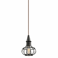 ELK 14191-1 Yardley Retro Oil Rubbed Bronze Mini Pendant Lamp