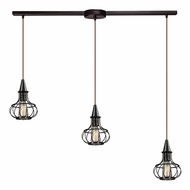 ELK 14191-3L Yardley Retro Oil Rubbed Bronze Multi Hanging Light