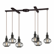 ELK 14191-6 Yardley Vintage Oil Rubbed Bronze Multi Pendant Light Fixture