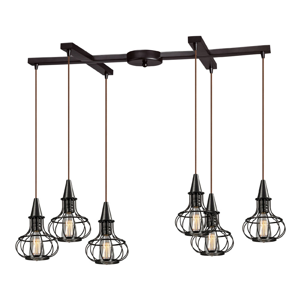 Elk 14191 6 Yardley Vintage Oil Rubbed Bronze Multi Pendant Light Fixture Loading Zoom