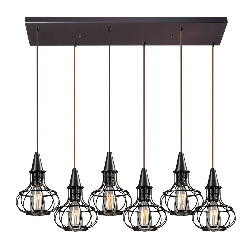 hanging lighting fixtures. ELK 14191-6RC Yardley Retro Oil Rubbed Bronze Multi Pendant Lighting Fixture. Loading Zoom Hanging Fixtures L