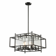 ELK 14203-5 Intersections Contemporary Oil Rubbed Bronze Ceiling Light Pendant