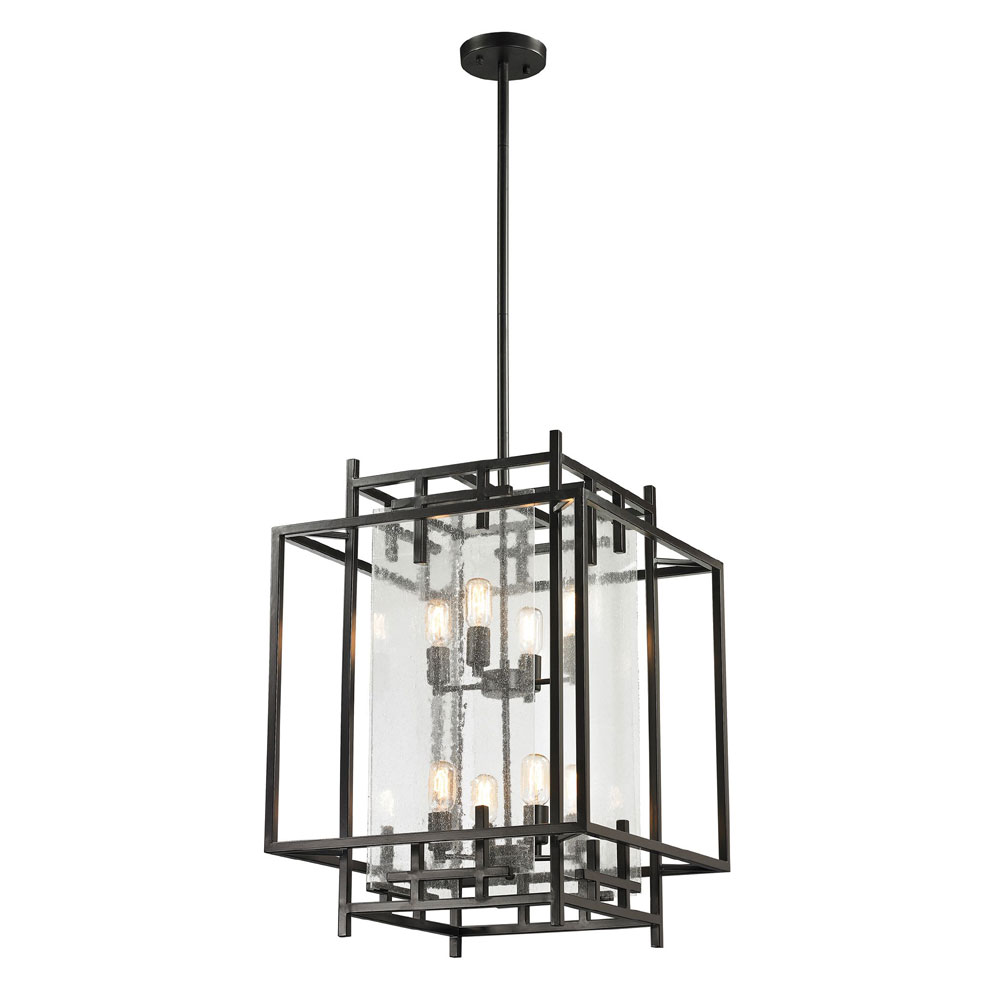 Contemporary Foyer Lights : Elk  intersections contemporary oil rubbed bronze
