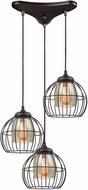 ELK 14245-3 Yardley Modern Oil Rubbed Bronze Multi Pendant Lighting