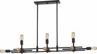 ELK 14253-6-5 Parallax Contemporary Oil Rubbed Bronze Kitchen Island Lighting