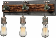 ELK 14282-3 Jonas Contemporary Multi-tone Weathered 3-Light Wall Lighting
