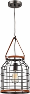 ELK 14307-1 Purcell Modern Weathered Iron Mini Pendant Light Fixture