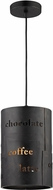 ELK 14311-1 Caf� Modern Matte Black/Gold Mini Hanging Pendant Lighting