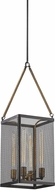 ELK 14322-4 Donovan Wrought Iron Black Antique Gold Foyer Lighting Fixture