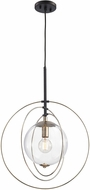 ELK 14385-1 Zonas Contemporary Polished Gold Oil Rubbed Bronze Hanging Lamp