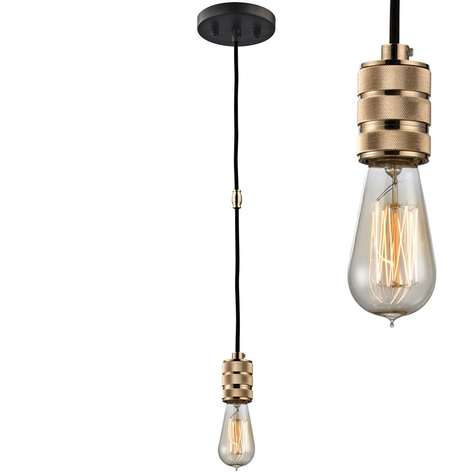 elk camley polished gold oil rubbed bronze mini pendant light fixture loading zoom - Bronze Pendant Light