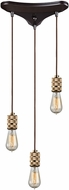 ELK 14391-3 Camley Modern Polished Gold Oil Rubbed Bronze Multi Pendant Lighting Fixture