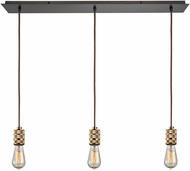 ELK 14391-3LP Camley Contemporary Polished Gold Oil Rubbed Bronze Multi Hanging Pendant Lighting