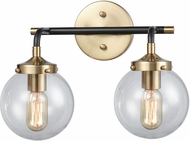 ELK 14427-2 Boudreaux Modern Matte Black / Antique Gold 2-Light Lighting For Bathroom