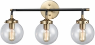 ELK 14428-3 Boudreaux Contemporary Matte Black / Antique Gold 3-Light Bath Lighting