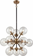 ELK 14434-12 Boudreaux Modern Matte Black,Antique Gold 25  Ceiling Chandelier
