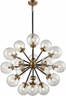 ELK 14435-18 Boudreaux Contemporary Matte Black,Antique Gold 32  Hanging Chandelier