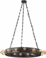 ELK 14445-24 Venue Contemporary Speckled Iron Chandelier Light