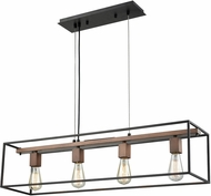 ELK 14462-4 Rigby Modern Oil Rubbed Bronze,Tarnished Brass Island Light Fixture