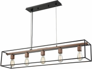 ELK 14463-5 Rigby Contemporary Oil Rubbed Bronze,Tarnished Brass Kitchen Island Light Fixture