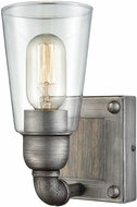 ELK 14470-1 Platform Modern Weathered Zinc Wall Lamp